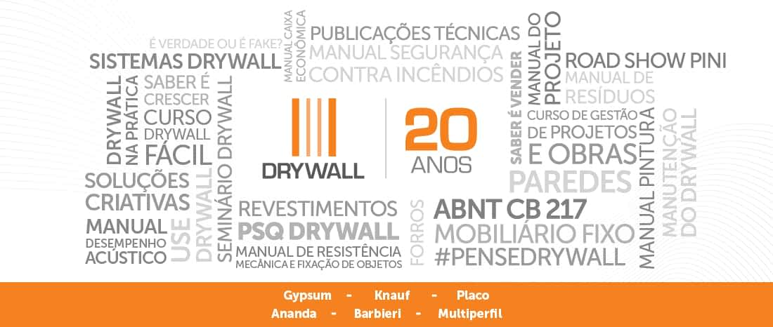 A Associação Brasileira do Drywall completa 20 anos